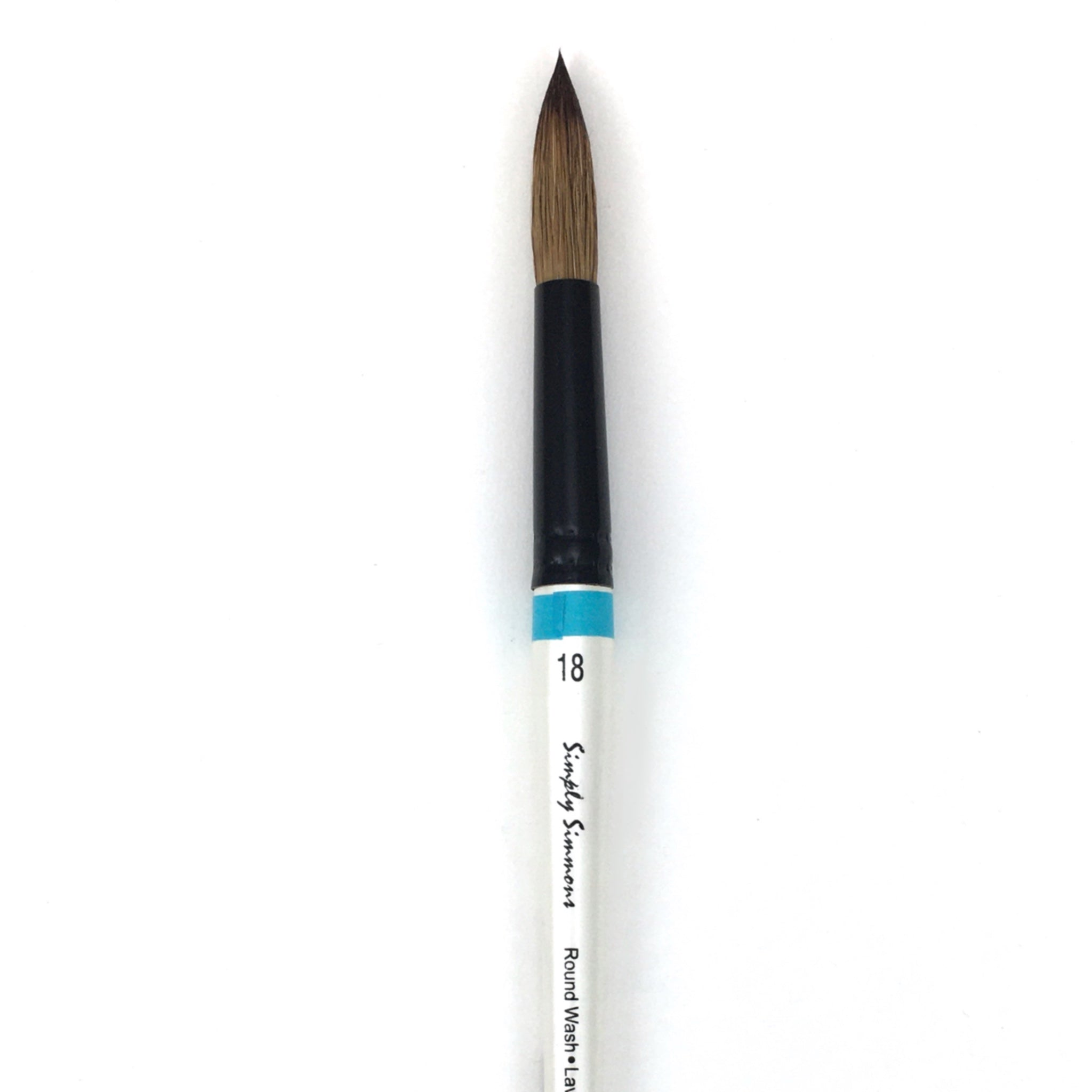 Robert Simmons Simply Simmons Watercolor Brush (Short Handle) - Round Wash / - #18 / - natural by Robert Simmons - K. A. Artist Shop