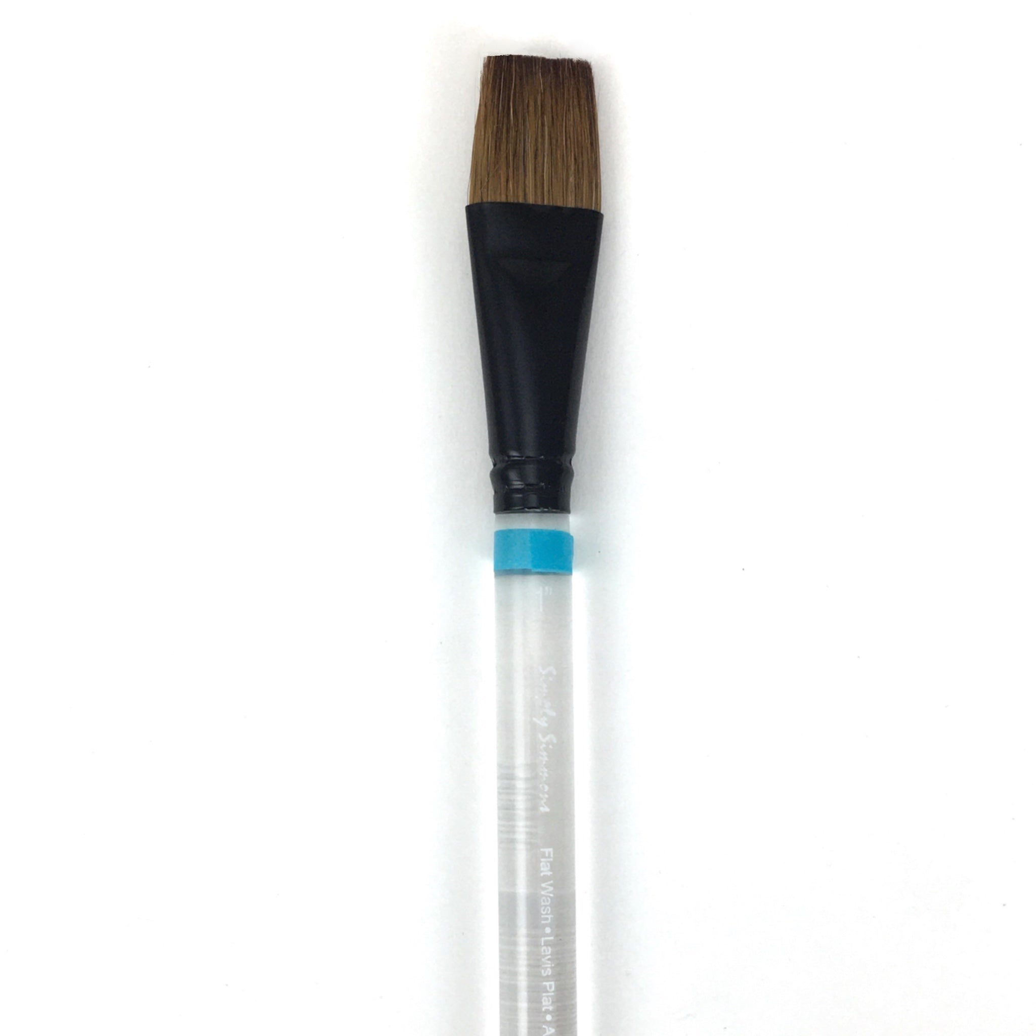 Robert Simmons Simply Simmons Watercolor Brush (Short Handle) - Flat Wash / - 1 inches / - natural by Robert Simmons - K. A. Artist Shop