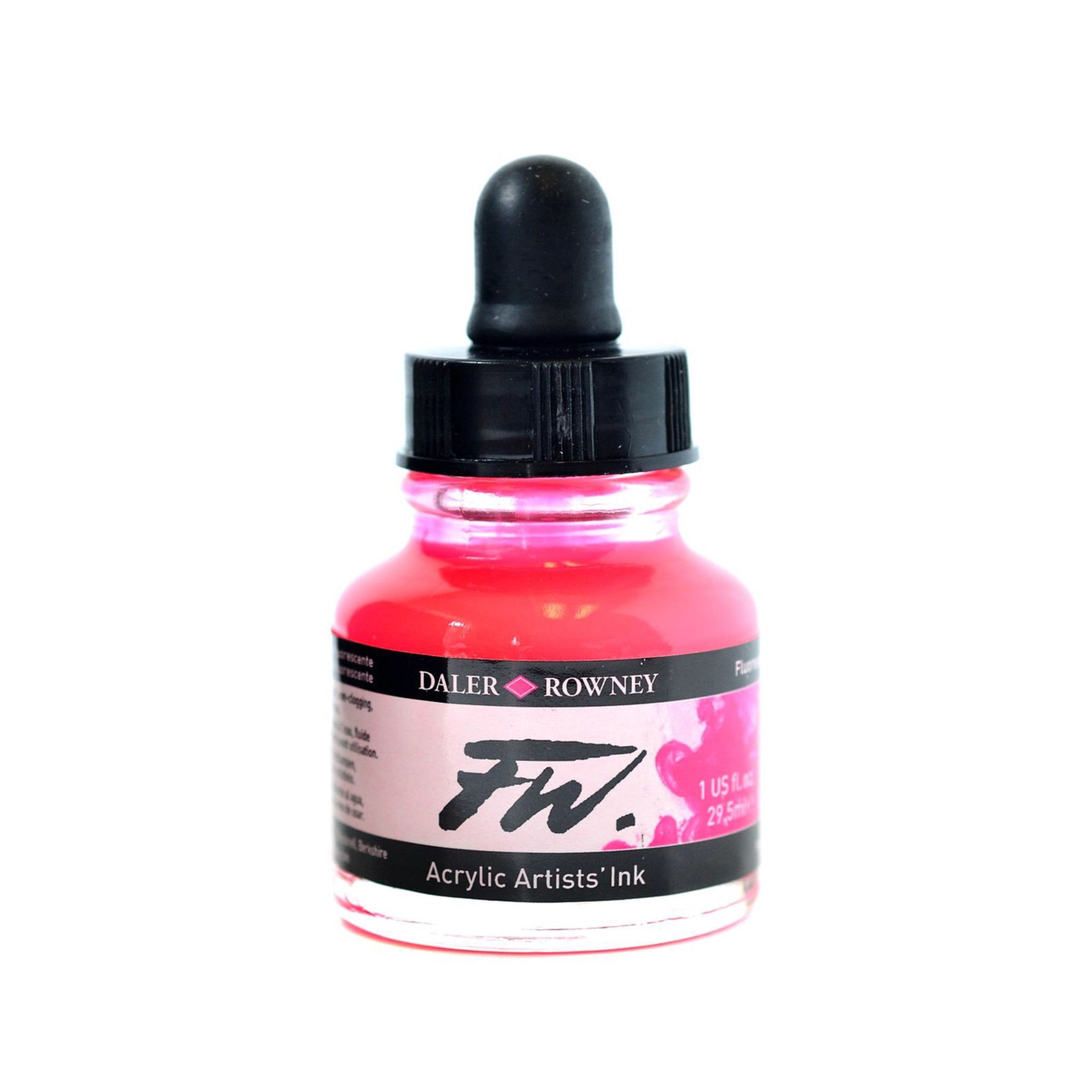 Daler Rowney FW Acrylic Ink - Fluorescent Pink by Daler Rowney - K. A. Artist Shop