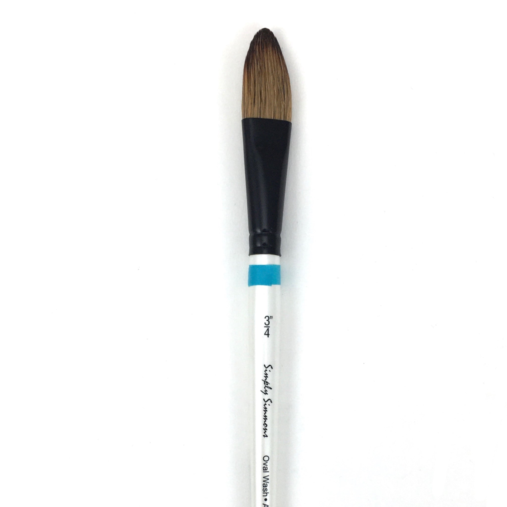 Robert Simmons Simply Simmons Watercolor Brush (Short Handle) - Oval Wash / - 3/4 inches / - natural by Robert Simmons - K. A. Artist Shop