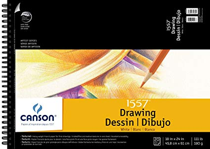 "Canson ""C A Grain"" Drawing Paper Single Sheets - 19"" x 24"" - 111 lb."