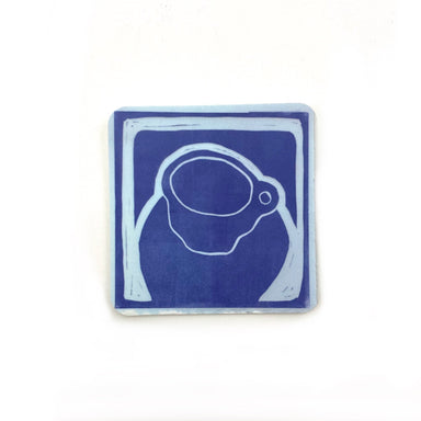 Cafe Scene Magnets by René Shoemaker - Royal Blue Tea Cup by René Shoemaker - K. A. Artist Shop
