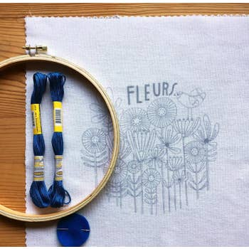 """Fleurs"" Embroidery Kit by budgiegoods - by budgiegoods - K. A. Artist Shop"