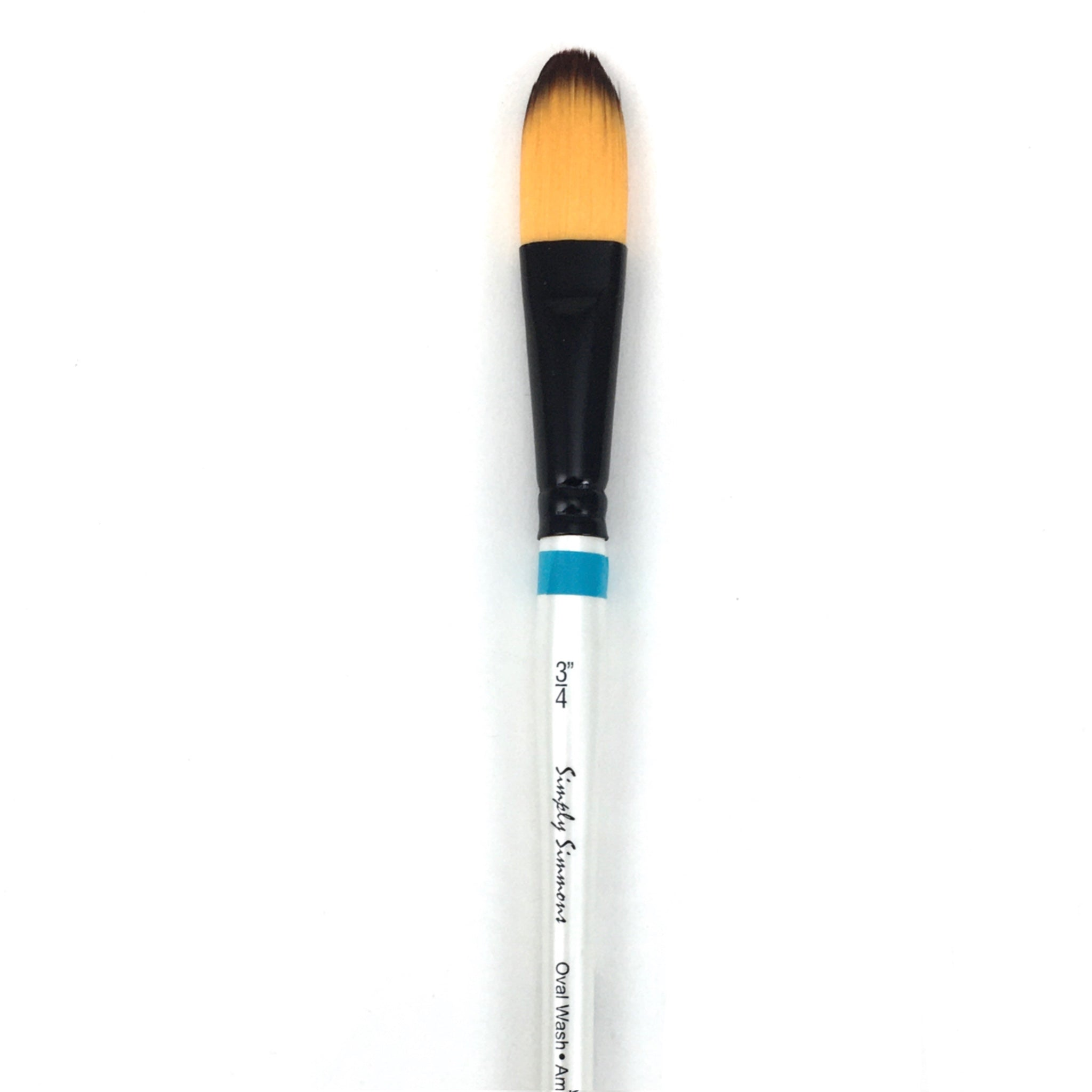 Robert Simmons Simply Simmons Watercolor Brush (Short Handle) - Oval Wash / - 3/4 inches / - synthetic by Robert Simmons - K. A. Artist Shop