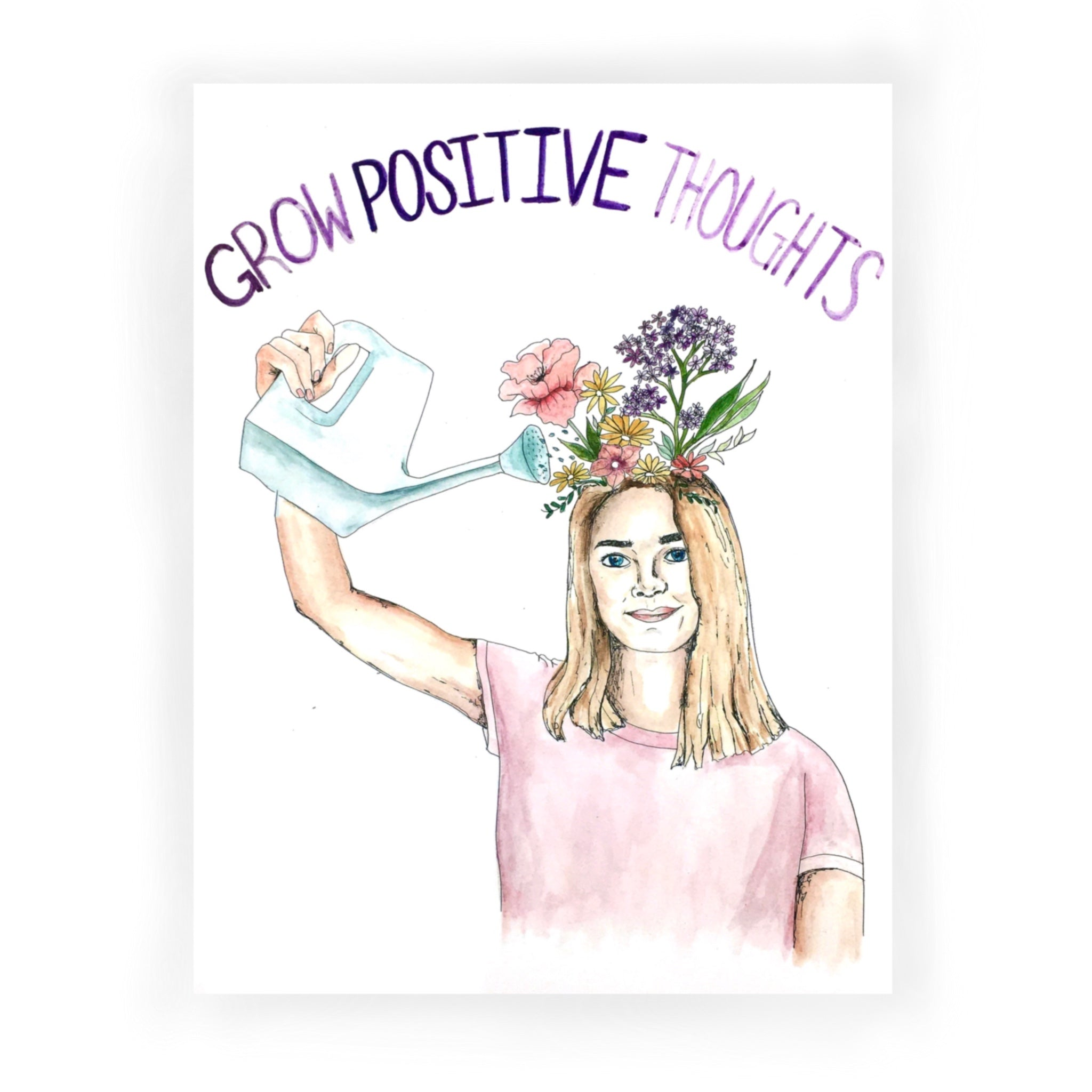 """Grow Positive Thoughts"" by Sarah Moon - by Sarah Moon - K. A. Artist Shop"