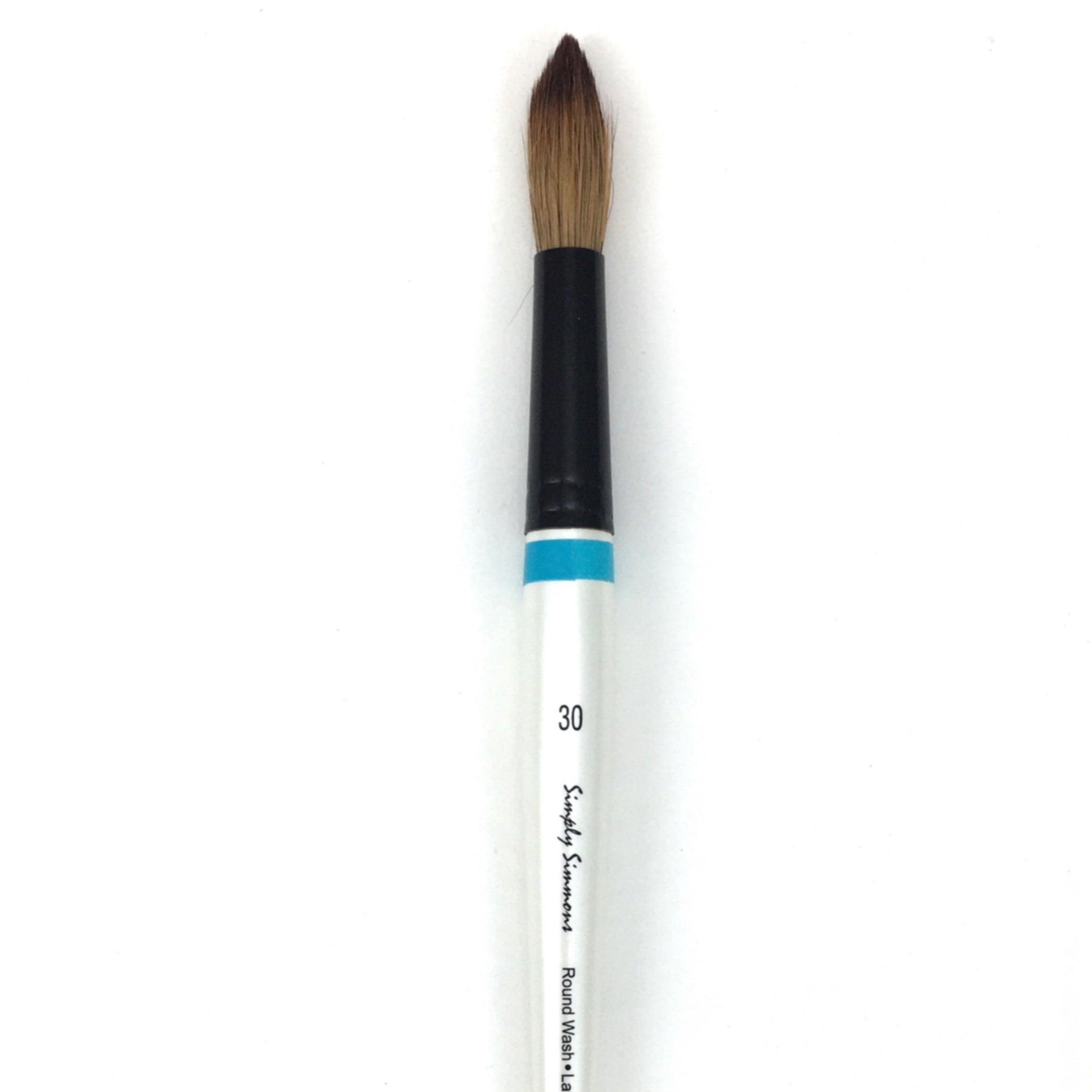 Robert Simmons Simply Simmons Watercolor Brush (Short Handle) - Round Wash / - #30 / - natural by Robert Simmons - K. A. Artist Shop