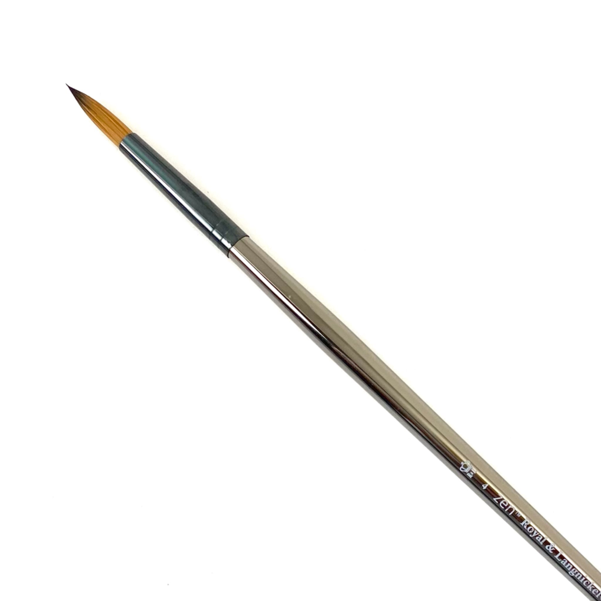 Royal & Langnickle Zen Long Handle Brushes - 43 Series - Round / 4 by Royal & Langnickle - K. A. Artist Shop