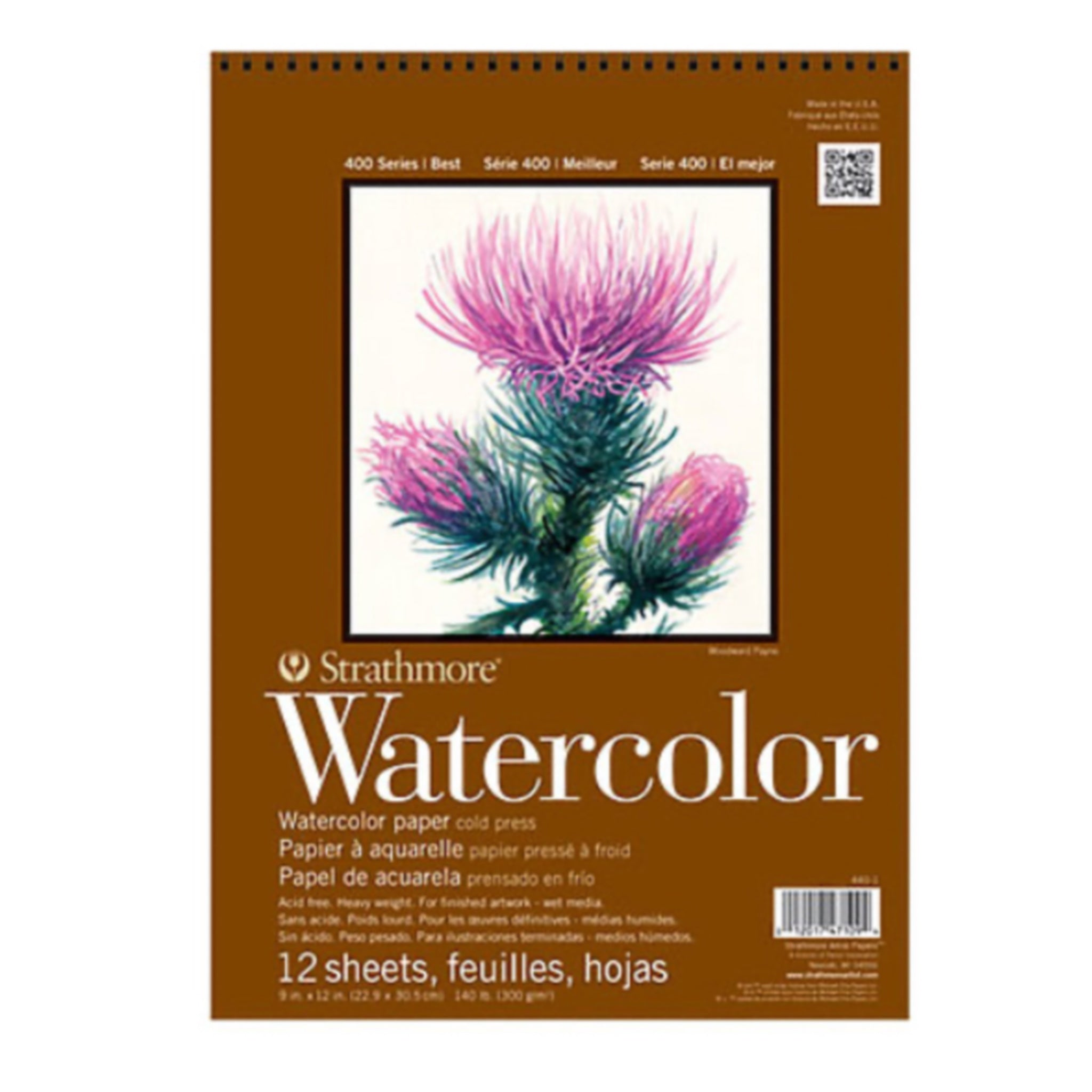 Strathmore 400 Series Watercolor Pad - 11 x 15 inches - by Strathmore - K. A. Artist Shop