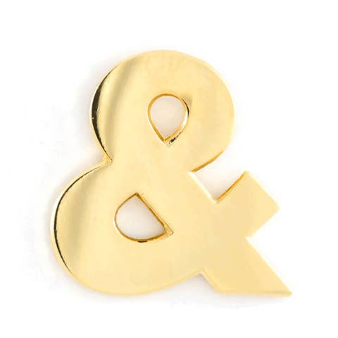 Ampersand Enamel Pin