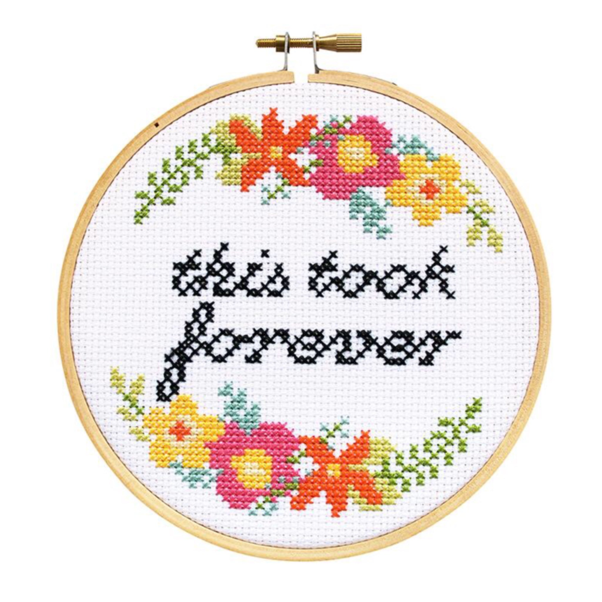 This Took Forever DIY Cross Stitch Kit - by The Stranded Stitch - K. A. Artist Shop