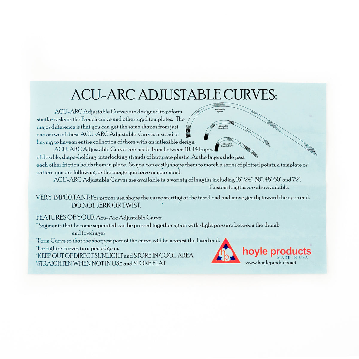 Acu-Arc Adjustable Curve