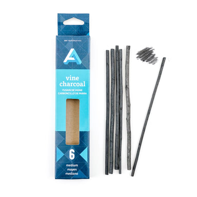 Art Alternatives Vine Charcoal - 6/pk - by Art Alternatives - K. A. Artist Shop