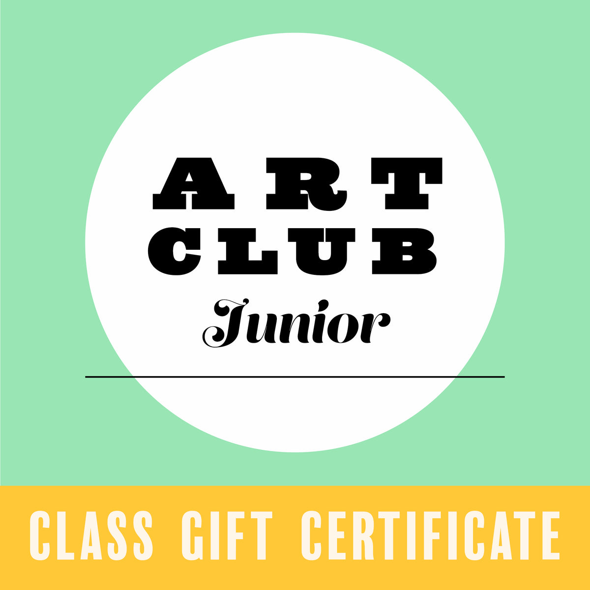 Gift Certificate for Art Club Junior