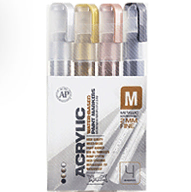 Montana Acrylic 4 Color Marker Set - 2mm - by K. A. Artist Shop - K. A. Artist Shop