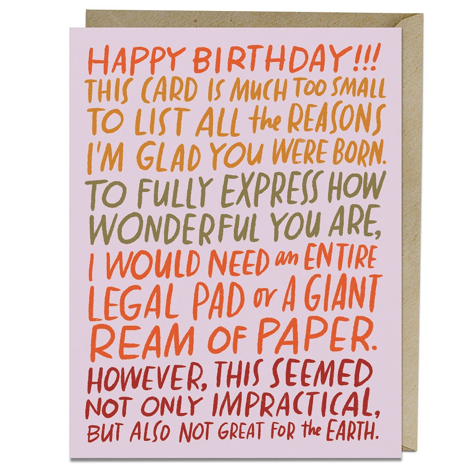 """Ream of Paper"" Birthday Card by Emily McDowell - by Emily McDowell - K. A. Artist Shop"