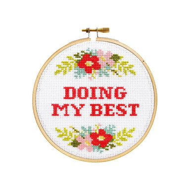 """Doing My Best"" DIY Cross Stitch Kit - by The Stranded Stitch - K. A. Artist Shop"