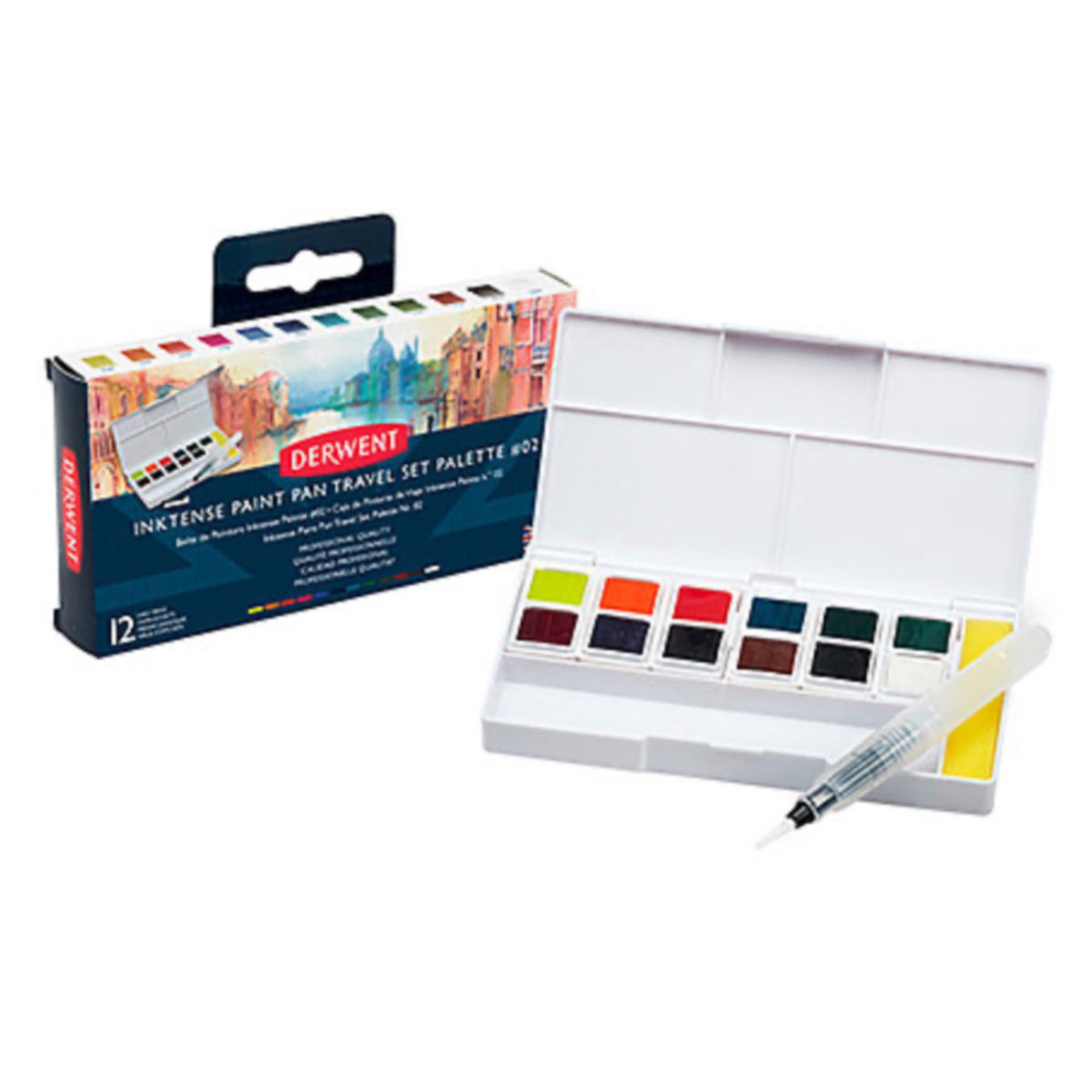 Derwent Inktense Paint Pan Travel Sets