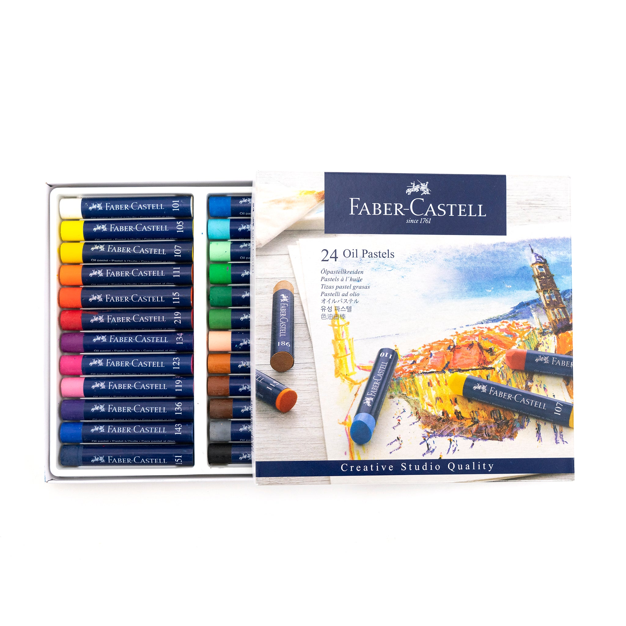 Faber-Castell Creative Studio Oil Pastels - Set of 24 by Faber-Castell - K. A. Artist Shop