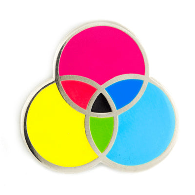 """CMYK Color Wheel"" Enamel Pin by These Are Things"