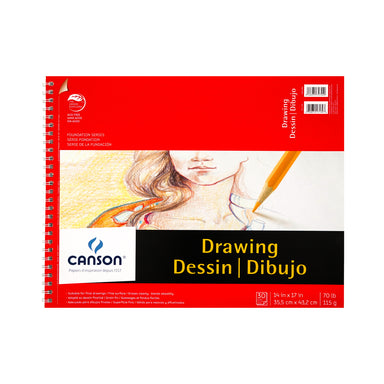 Canson Foundation Series Drawing Pad - 14 x 17 inches by Canson - K. A. Artist Shop