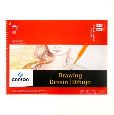 Canson Foundation Series Drawing Pad - 18 x 24 inches by Canson - K. A. Artist Shop