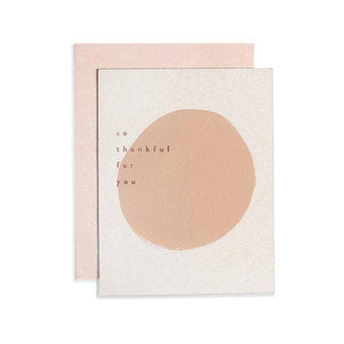 """So Thankful for You"" Pink Dot Greeting Card by Moglea - by Moglea - K. A. Artist Shop"