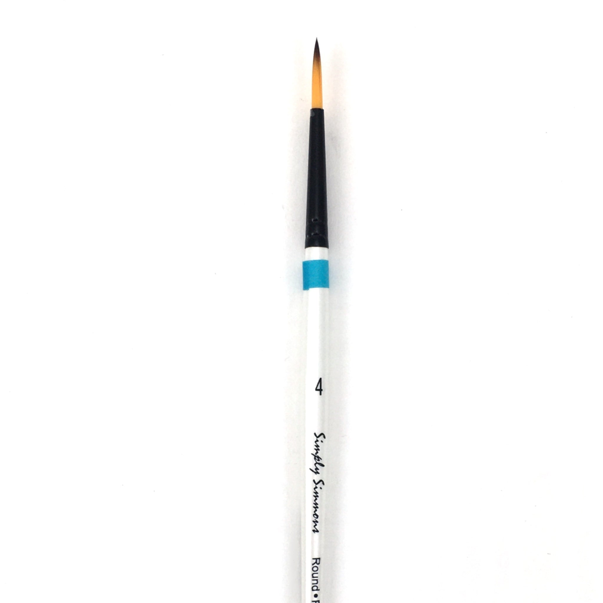 Robert Simmons Simply Simmons Watercolor Brush (Short Handle) - Round / - #4 / - synthetic by Robert Simmons - K. A. Artist Shop