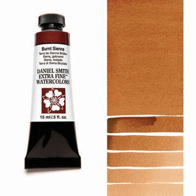 Daniel Smith Extra Fine Watercolors - 15ml / 5 fl. oz. - Burnt Sienna by Daniel Smith - K. A. Artist Shop