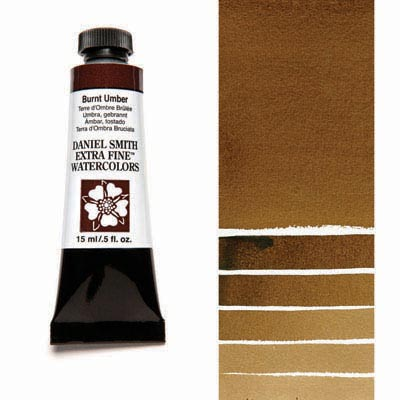 Daniel Smith Extra Fine Watercolors - 15ml / 5 fl. oz. - Burnt Umber by Daniel Smith - K. A. Artist Shop