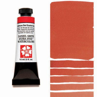 Daniel Smith Extra Fine Watercolors - 15ml / 5 fl. oz. - Cadmium Red Scarlet Hue by Daniel Smith - K. A. Artist Shop