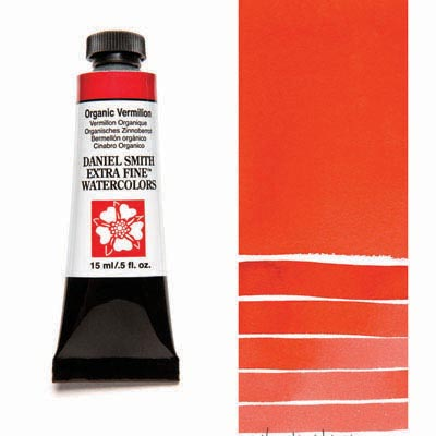 Daniel Smith Extra Fine Watercolors - 15ml / 5 fl. oz. - Organic Vermilion by Daniel Smith - K. A. Artist Shop