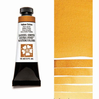 Daniel Smith Extra Fine Watercolors - 15ml / 5 fl. oz. - Yellow Ochre by Daniel Smith - K. A. Artist Shop