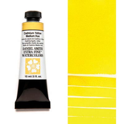 Daniel Smith Extra Fine Watercolors - 15ml / 5 fl. oz. - Cadmium Yellow Medium Hue by Daniel Smith - K. A. Artist Shop