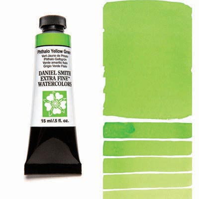 Daniel Smith Extra Fine Watercolors - 15ml / 5 fl. oz. - Phthalo Yellow Green by Daniel Smith - K. A. Artist Shop
