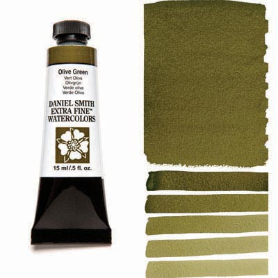 Daniel Smith Extra Fine Watercolors - 15ml / 5 fl. oz. - Olive Green by Daniel Smith - K. A. Artist Shop