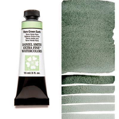 Daniel Smith Extra Fine Watercolors - 15ml / 5 fl. oz. - Rare Green Earth by Daniel Smith - K. A. Artist Shop