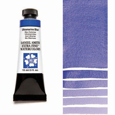Daniel Smith Extra Fine Watercolors - 15ml / 5 fl. oz. - Ultramarine Blue by Daniel Smith - K. A. Artist Shop