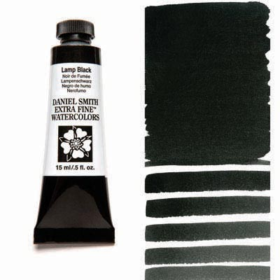Daniel Smith Extra Fine Watercolors - 15ml / 5 fl. oz. - Lamp Black by Daniel Smith - K. A. Artist Shop