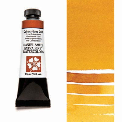 Daniel Smith Extra Fine Watercolors - 15ml / 5 fl. oz. - Quinacridone Gold by Daniel Smith - K. A. Artist Shop