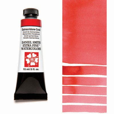 Daniel Smith Extra Fine Watercolors - 15ml / 5 fl. oz. - Quinacridone Coral by Daniel Smith - K. A. Artist Shop