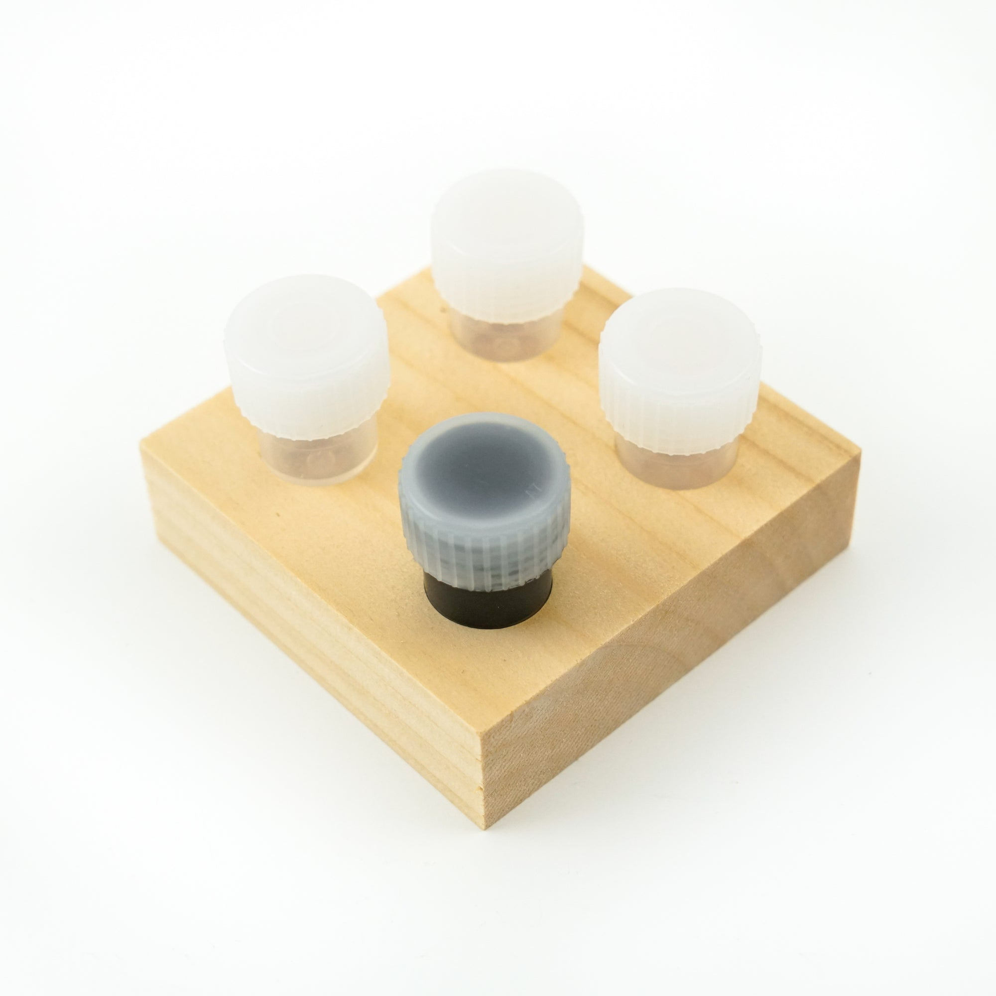 Dinky Dips 4pc Wooden Ink Well / Ink Holder