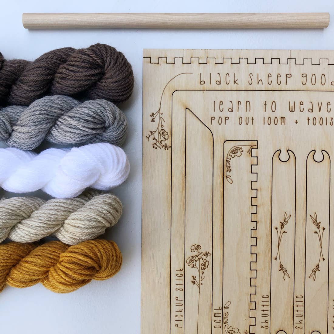 DIY Tapestry Weaving Kits by Black Sheep Goods - Honey by Black Sheep Goods - K. A. Artist Shop
