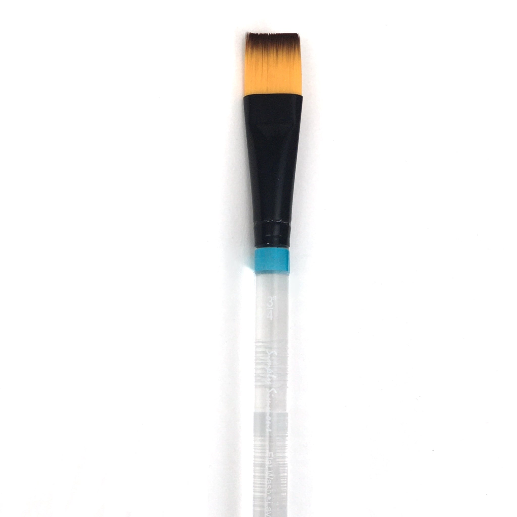 Robert Simmons Simply Simmons Watercolor Brush (Short Handle) - Flat Wash / - 3/4 inches / - synthetic by Robert Simmons - K. A. Artist Shop