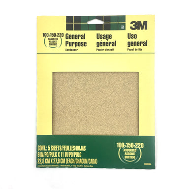 All-Purpose Assorted Sandpaper - by 3M - K. A. Artist Shop