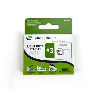 Surebonder Light Duty Staples for Staple Gun (5/16 inch) - by SureBonder - K. A. Artist Shop