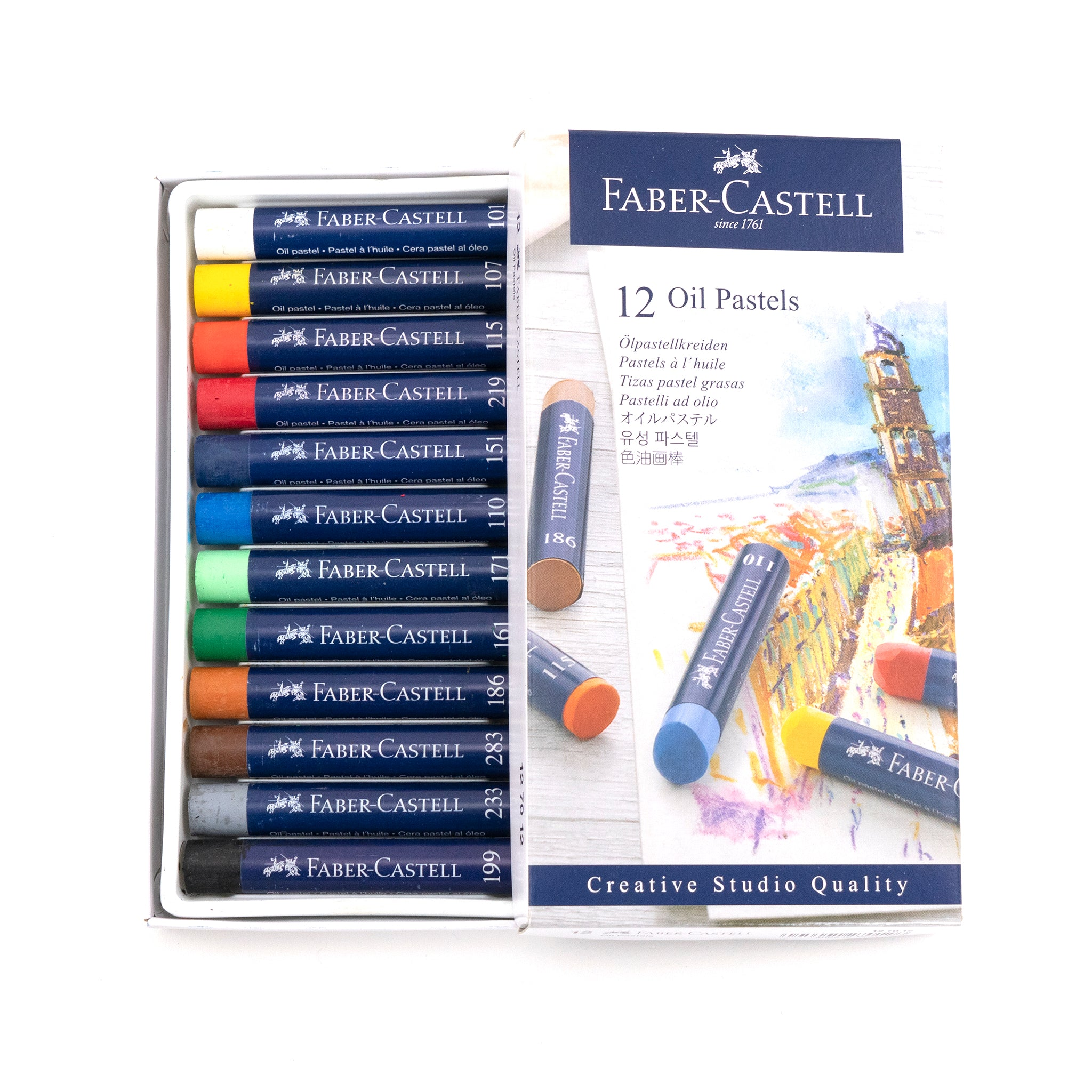 Faber-Castell Creative Studio Oil Pastels - Set of 12 by Faber-Castell - K. A. Artist Shop