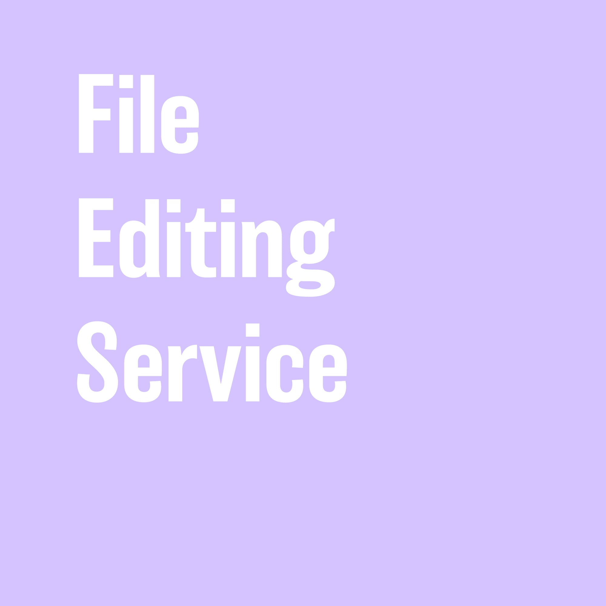 File Editing Service - Scanned or Photographed Images