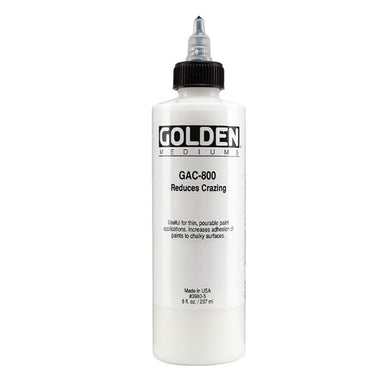 "Golden Mediums ""GAC 800"" Reduces Crazing - 8oz - by Golden - K. A. Artist Shop"