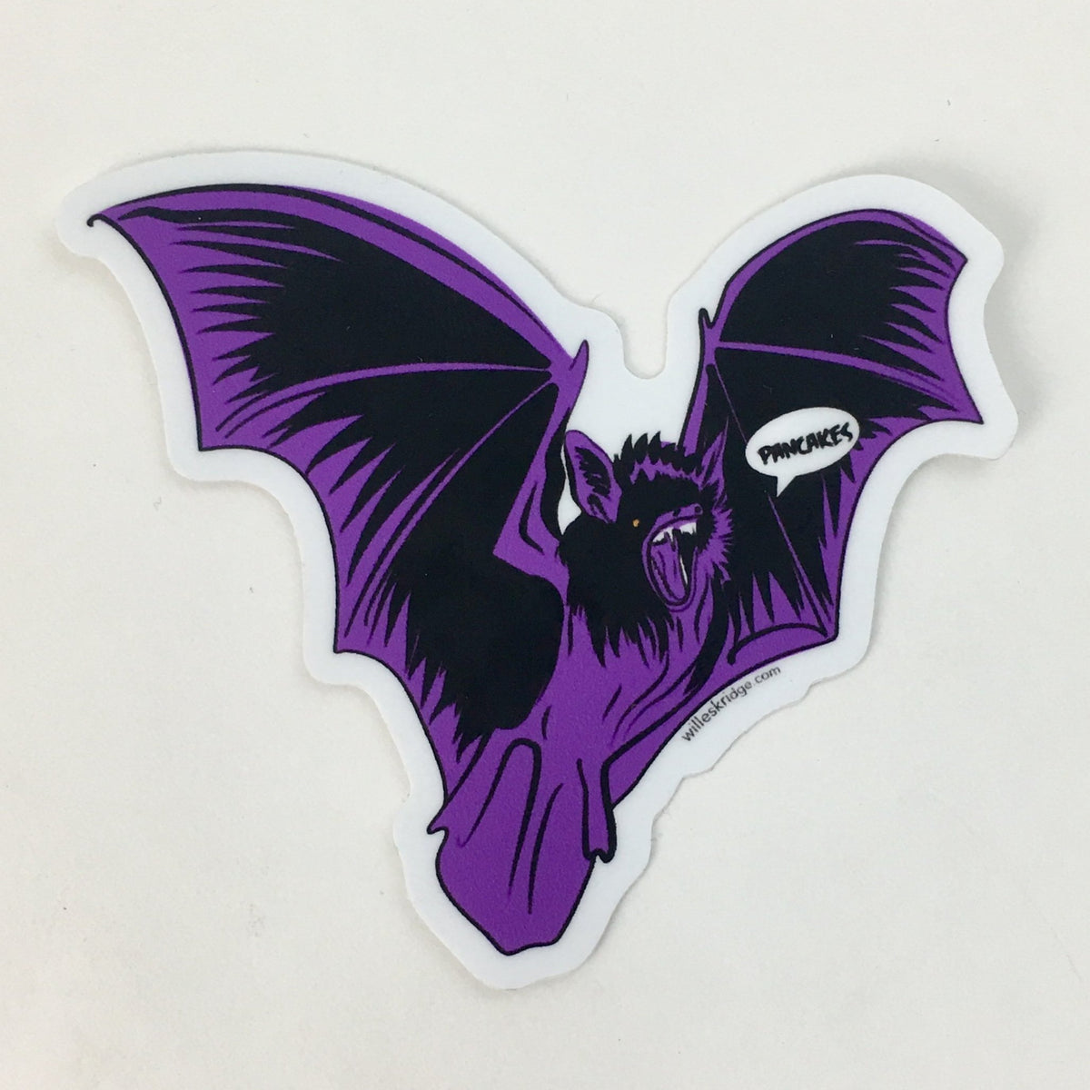 Pancake Bat Sticker by Will Eskridge