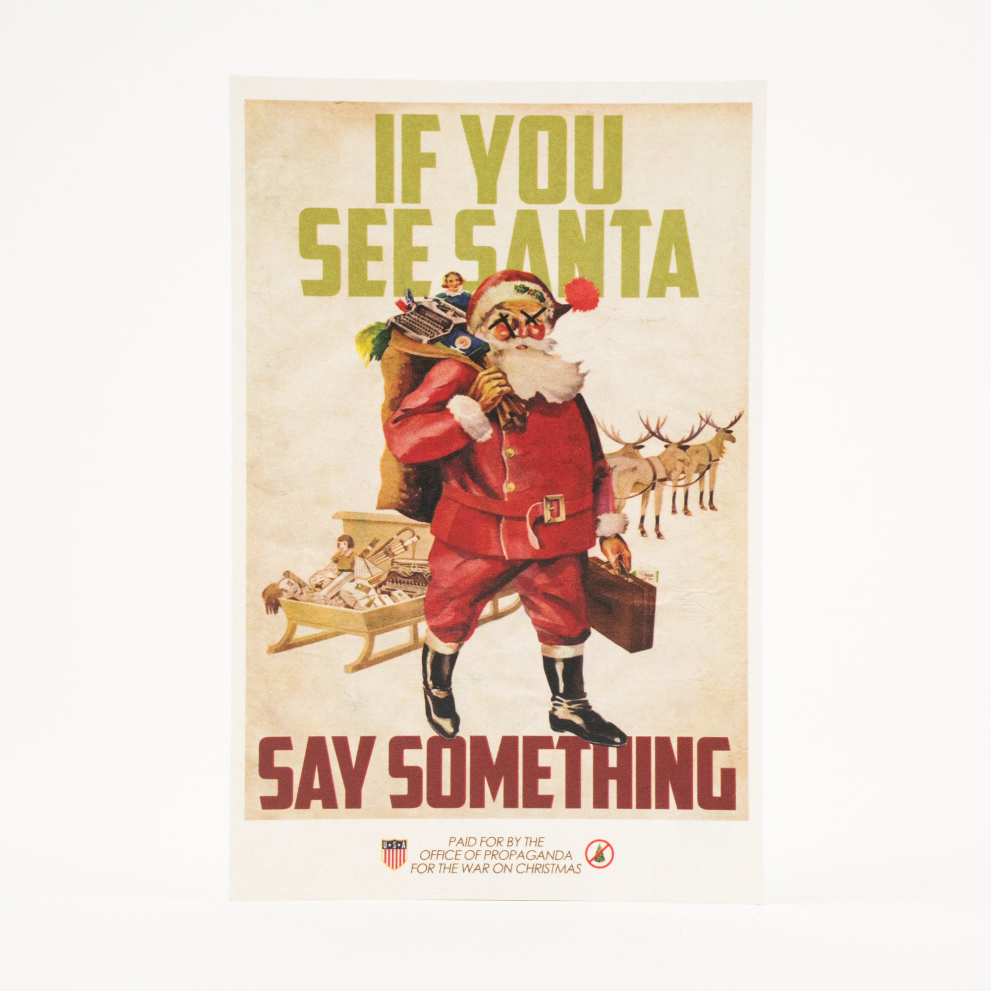 """If You See Santa, Say Something"" Athens, GA Postcard by Classic City Postal Service"